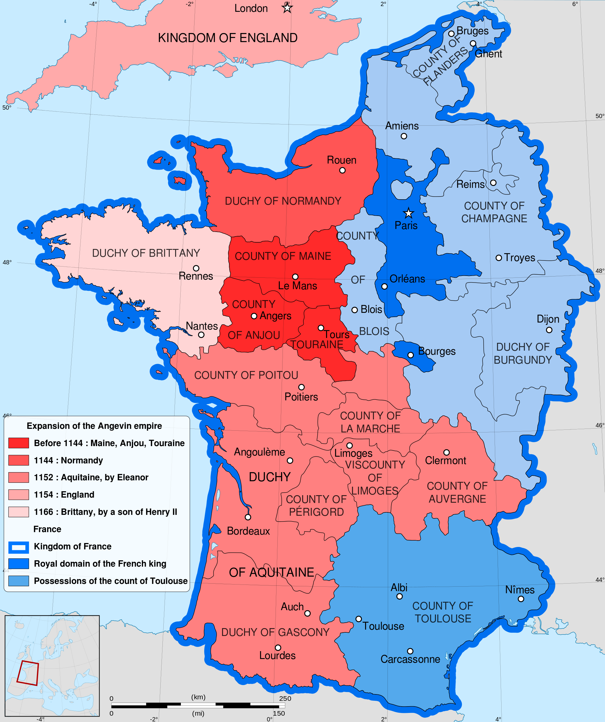 Clear Map Of France.Eleanor Of Aquitaine The First Feminist Law School Heretic
